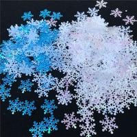Decoración de copos de nieve artificiales para el hogar, decoraciones de Navidad para fiesta de Frozen, boda, cumpleaños, bricolaje, hecho a mano, 300/200 Uds.