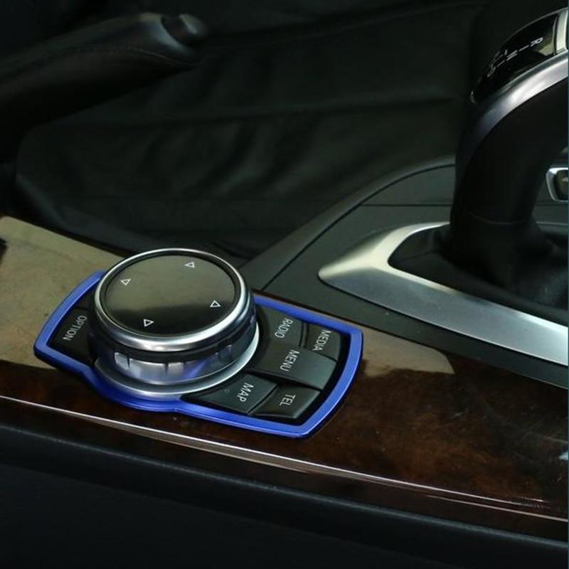 1pc Car Indoor Sticker Car Multimedia Button Sticker For Bmw M Sticker X1 X3 X4 X5 X6 X7 E46 E90 F20 E60 E39 F10 Car Accessories
