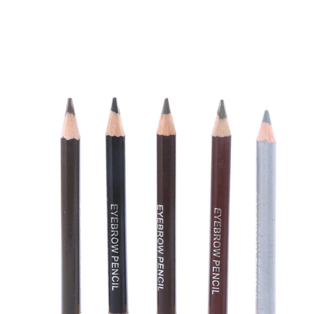 1PC 5 Kleuren Duurzaam Waterdicht Wenkbrauw Borstel Potlood langdurige Luipaard Eyeliner Vrouwen Cosmetische Accessoire Eye Makeup Tools