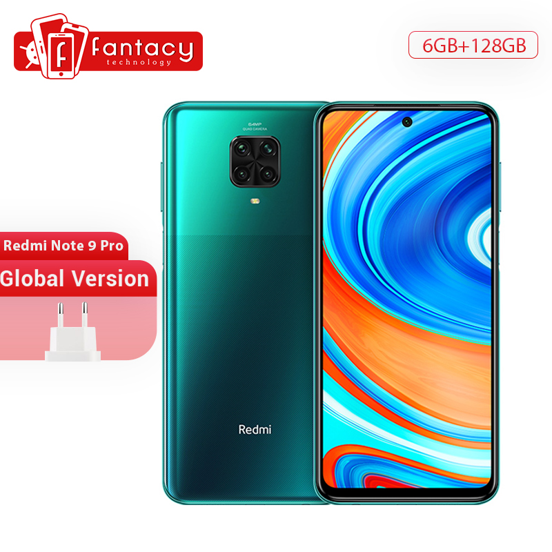 Global Version Xiaomi Redmi Note 9 Pro Smartphone 6GB 128GB Snapdragon 720G 64MP Quad Cams 5020mAh CellPhone 6.67
