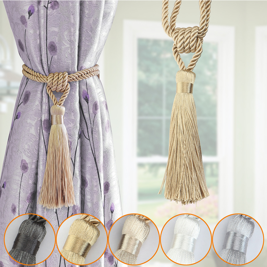 BEL AVENIR 1PCS Handmade Tassel Curtain Tiebacks Curtain Buckle Home Decor Curtain Accessories(China)