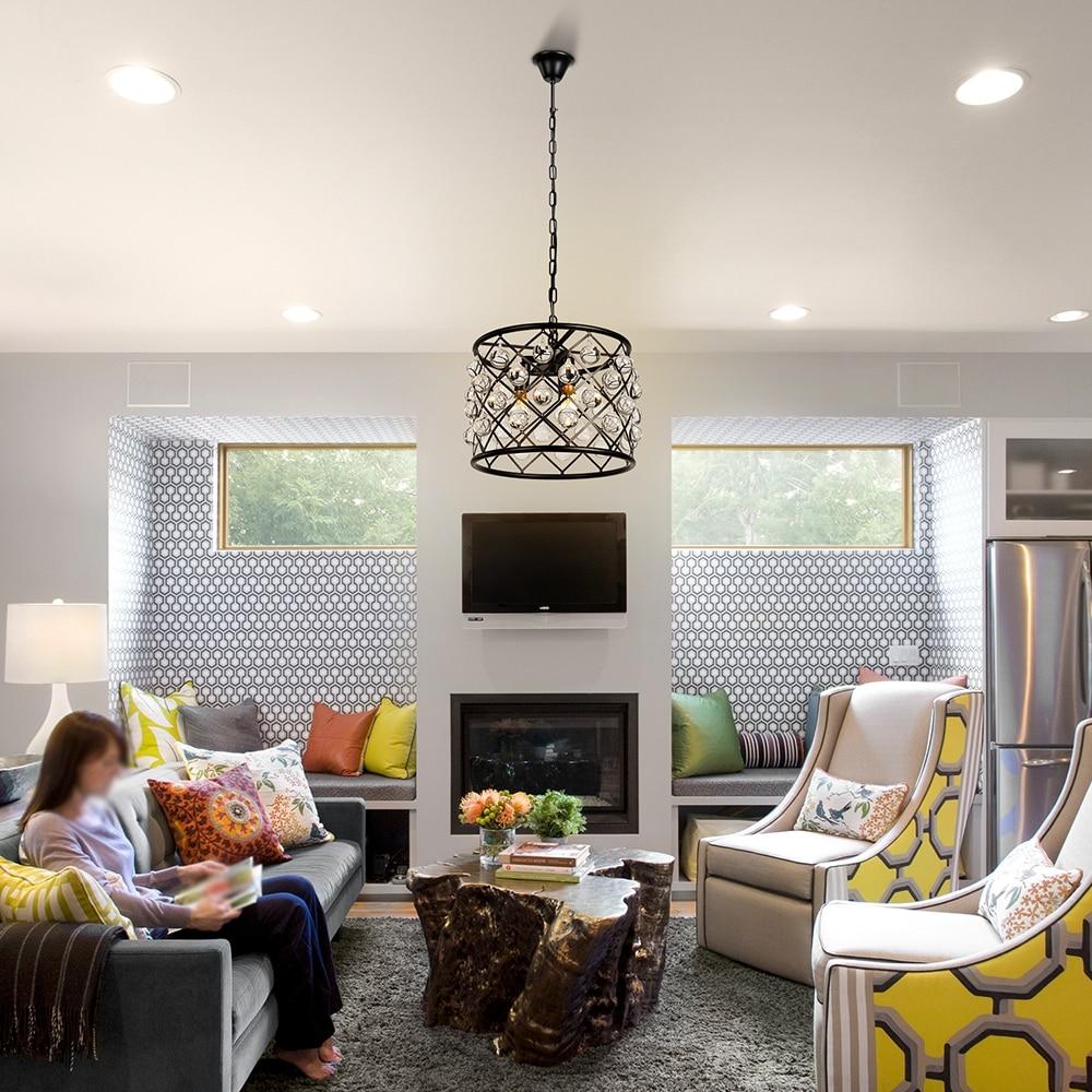 Image 5 - Industrial retro crystal decorative pendant lamp E14 living room bedroom interior lighting lamp kitchen loft hotel pendant light-in Chandeliers from Lights & Lighting