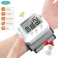 Cofoe poignet tensiomètre jauge numérique automatique tonomètre Portable sphygmomanomètre mesure pulsomètre pulsomètre