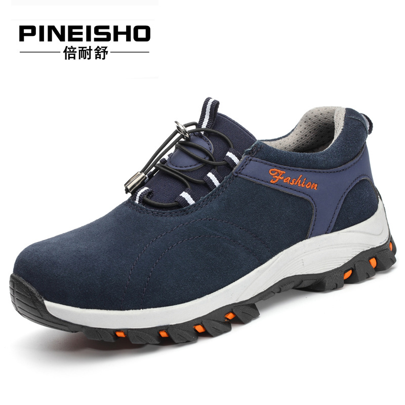 Safety Shoes Men's Steel Head Anti-smashing And Anti-penetration Oil Resistant Acid-base Protective Shoes Cowhide Shoes Safety S