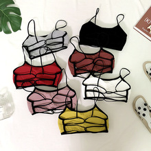 Sexy Tube Tops Strapless Straps Back Hollow Tube Top Wrapped Chest Underwear Women Bra zogaa sexy reflective wrapped chest women bodysuit midriff baring hollow strapless shoulder streetwear top female ladies tops