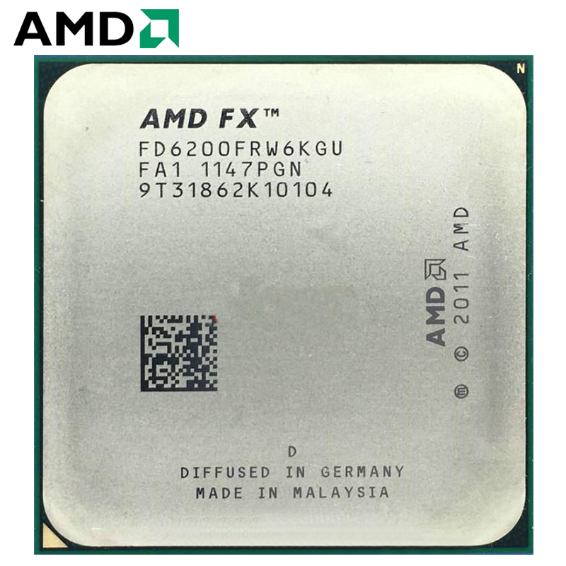 AMD FX 6200 3.8GHz 8MB 6-Core CPU Processor Desktop 125W FX Serial Socket AM3+