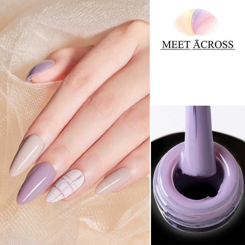 Rencontre à travers 7ML Gel vernis à ongles UV LED tremper hors Gel vernis à ongles longue durée
