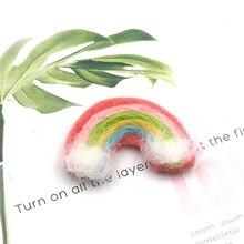 5 Pcs DIY Handmade Baby Felt Rainbow Home Party Decorations Photography Props 53CE