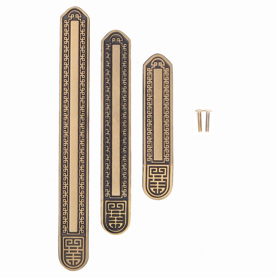 kitchen handles Antique Brass Solid Handle TV Cabinet Wardrobe Pulls Furniture Accessories Brown kitchen cabinet handles