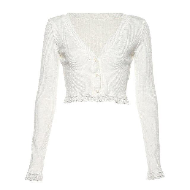 Vintage Gothic Lace Black Cardigan Women's Clothing & Accessories Tops & Tees Blouses & Shirts Cardigans 6f6cb72d544962fa333e2e: L|M|S