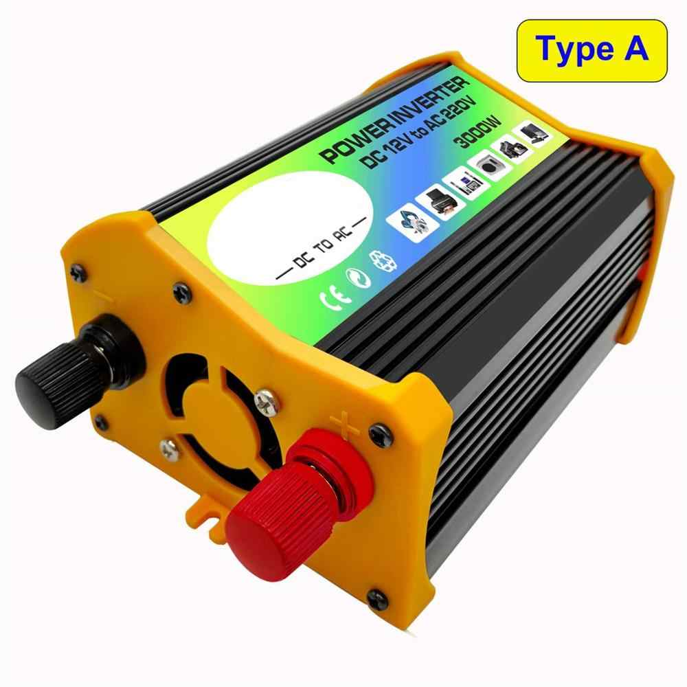 3000W 12V a 220 V/110 V Dual USB Car Power Inverter adaptador, cargador, convertidor transformador de voltaje modificado onda sinusoidal