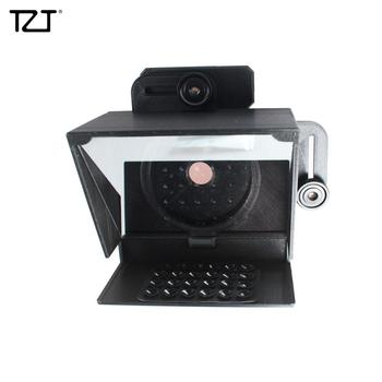 TZT 82mm Mini Portable Inscriber Mobile Teleprompter Artifact Video with Adapter Rings Remote Control for Mobile Phone & Camera