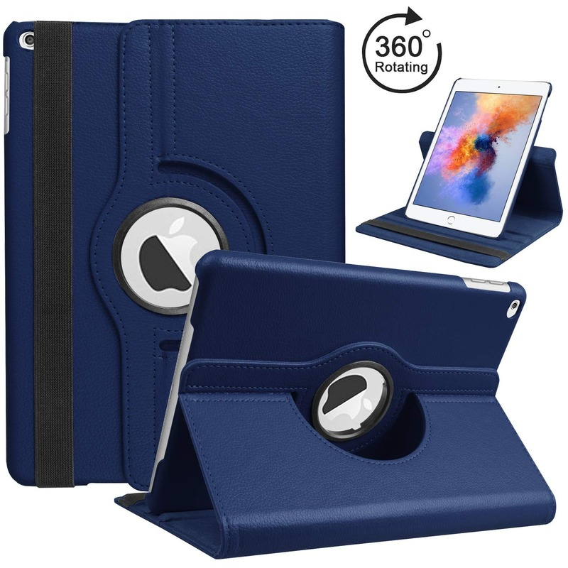 For iPad Air 2 Air 1 Case Cover for iPad 9.7 2018 2017 Case 5 6 5th 6th Generation Funda 360 Degree Rotating Leather Smart Coque image