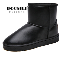 Winter Shoes Snow-Boots Waterproof Men New-Fashion Solid Boosili Antiskid-Bottom Plush-Inside