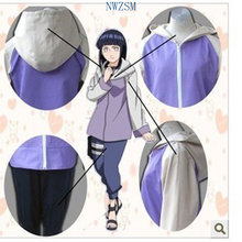 Anime Naruto Cosplay Shippuuden Hinata Hyuga 2nd Generation Full Combo Set Cosplay Costume Sportswear NARUTO Hoodies Sweatshirts(China)
