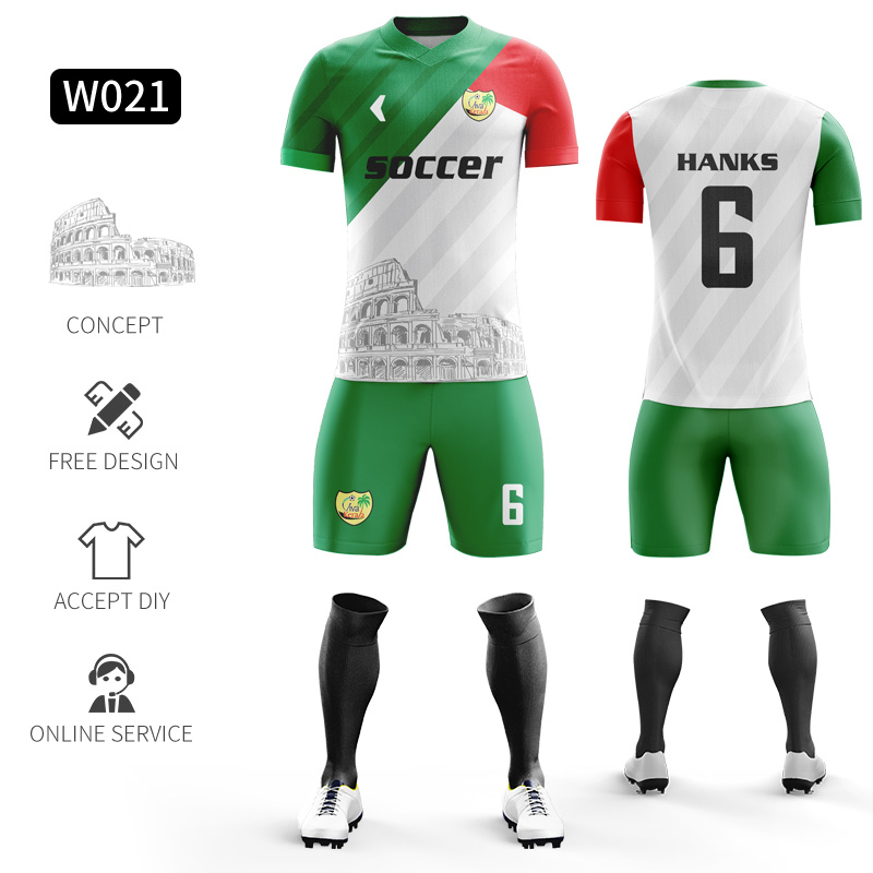 Custom Football Jerseys Full Sublimation Printing Soccer Jerseys Club Team Football Training Uniform Suit Soccer Uniform For Men 20