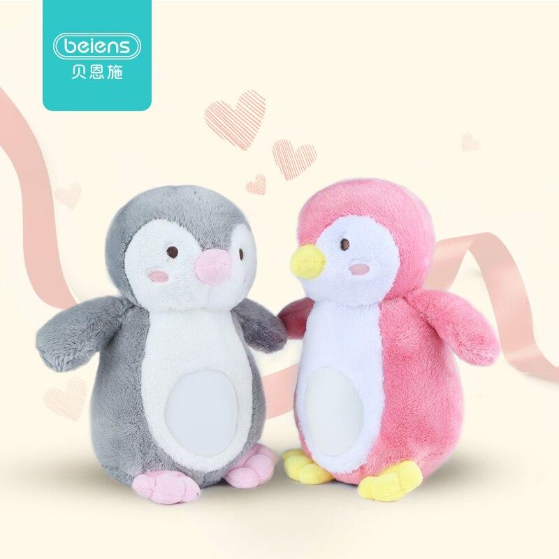 Beiens плюшевая игрушка пингвин светильник плюшевая игрушка Дети Мягкие животные ребенок сон музыка мягкие игрушки Bluetooth подключение Новорожденные подарки