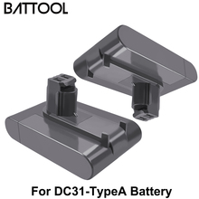 Battool 22.2V 4000mAh Battery Replace DC31A DC31Type-A Battery For Dyson DC31 DC31A DC35 DC44 DC45 Handheld Power ToolS Battery bonacell 22 2v 4000mah dc31 dc31a battery for dyson dc31 dc34 dc35 dc44 dc 45 animal handheld vacuum cleaner l70