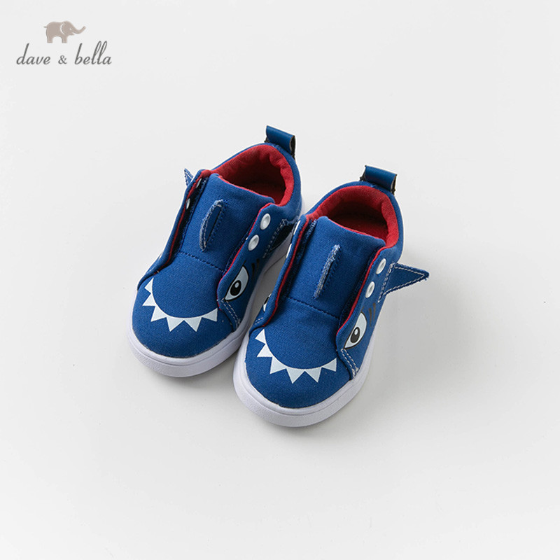 DB12871 Dave Bella Spring Autumn Baby Boy Canvas Royal Blue Shoes New Born Baby Boy Casual Shoes