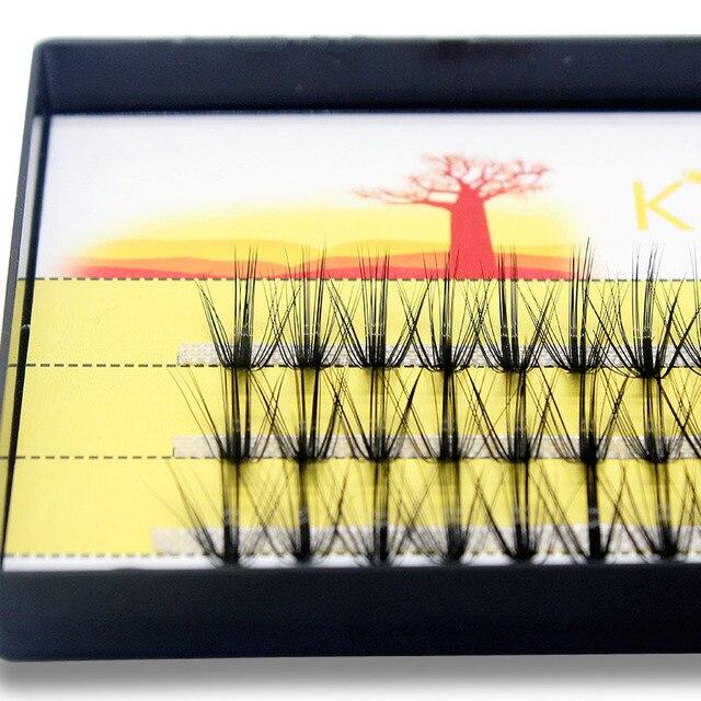 Kimcci Super Bundles 3D Mink Individual Eyelash Extension False 20D Russian Volume Cluster Lashes Natural Faux Makeup Eyelashes 4