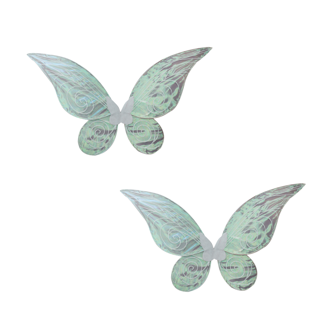 1 Pair of Color Shiny Changing Butterfly Angel Fairy Wing Party Fancy Dress