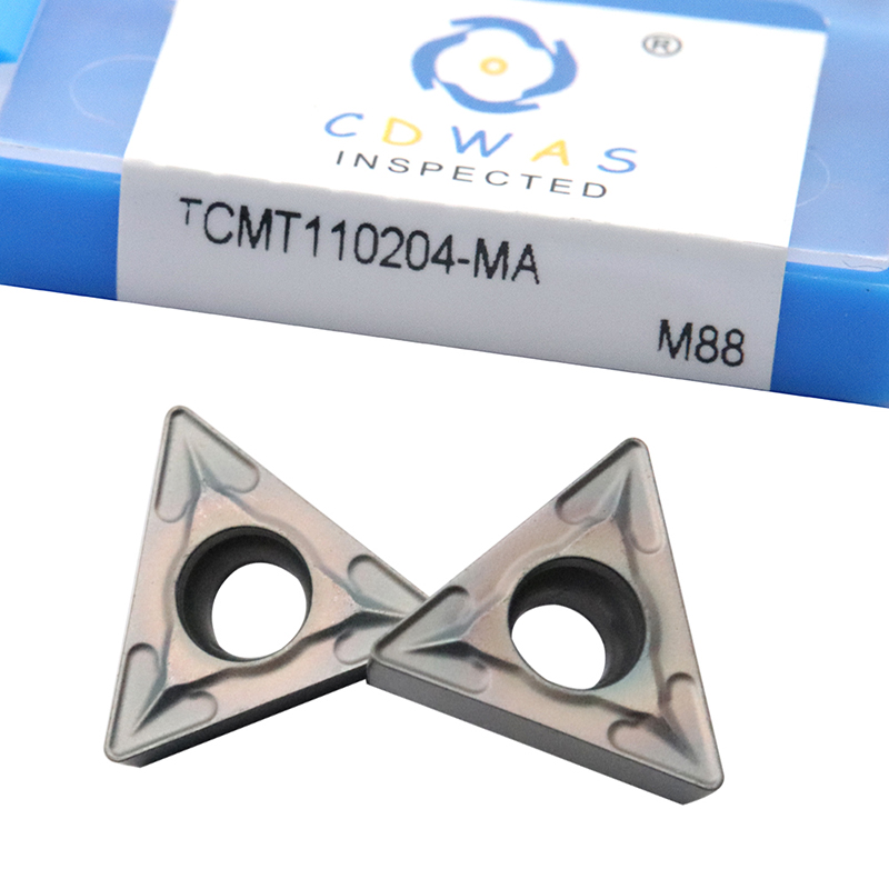 10PCS TCMT110204 MA M88 Carbide Inserts Internal Turning Tool <font><b>TCMT</b></font> <font><b>110204</b></font> Colorful Blade CNC Lathe Cutter Tools Cutting Tool image