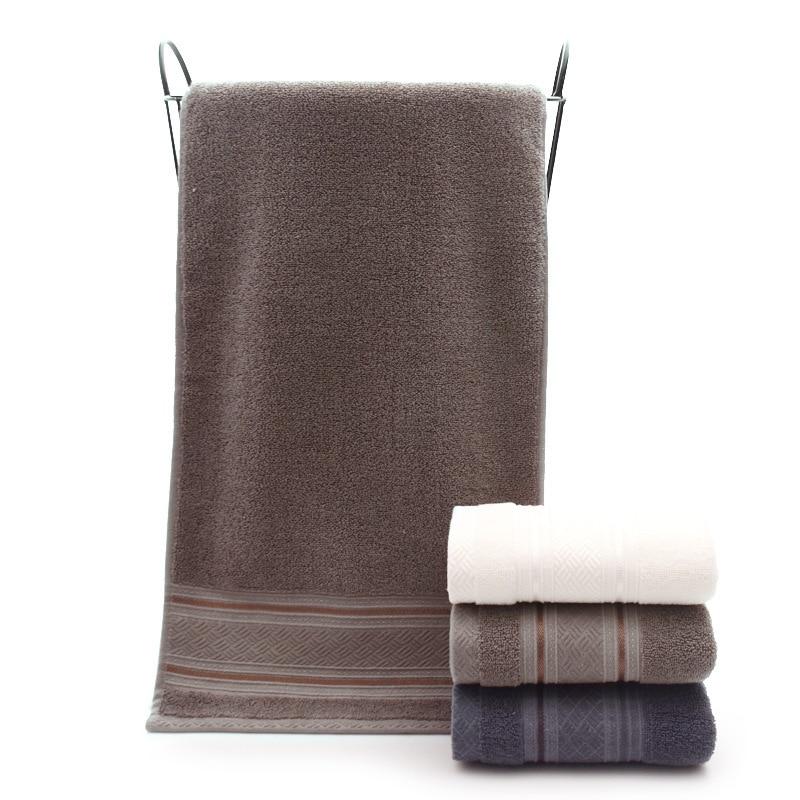 British Style Simple Solid Color Plain Pattern Man Washcloth Travel Hotel Bath Towel Bathrobe Camping Gym Portable Face Towels 3