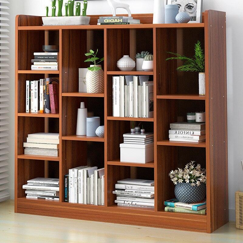 Simplicity Bookcase Bookshelf Modern Minimalist Floor Storage Shelf Multi-functional Creative Small Bookcase Economic Province S