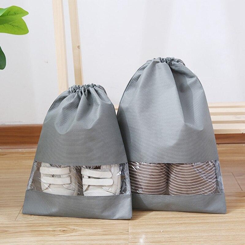 Shoes Storage Bag Moistureproof Visible Window Design Durable Sandal Storage Bag