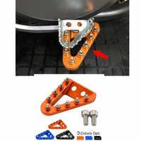 CNC Plus Large Pied Pédale De Frein Levier Étape Pointe Plaque Reste Pour KTM 125 150 250 300 350 450 500 SX SXF XCF XCW SXF EXCF Etc Motos