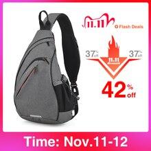 Рюкзак Mixi мужской/женский, на одно плечо, с USB портом для зарядки