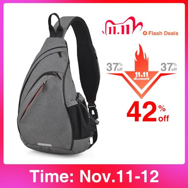Mixi hommes une épaule sac à dos femmes sac à bandoulière USB garçons cyclisme sport voyage polyvalent mode sac étudiant école université