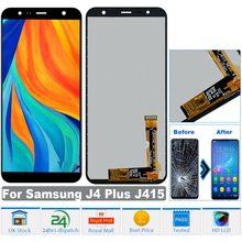 LCD Display Touch Screen Montagem Digitador Se Encaixa Para Samsung Galaxy Telefone J4 + Plus J415F Substituição Screen Display LCD de Toque
