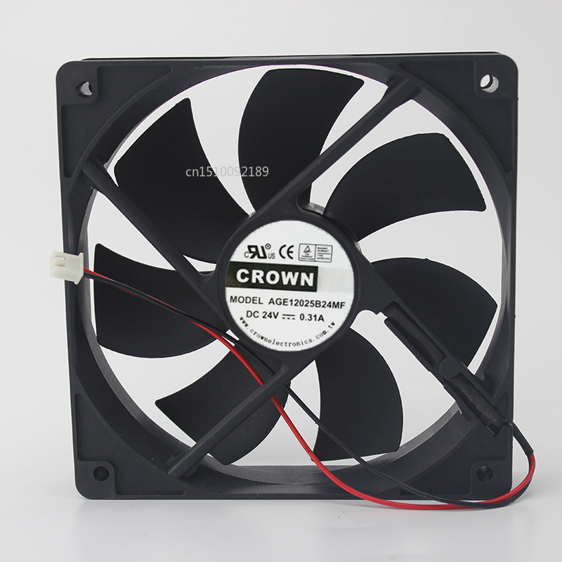 For 12025 AGE12025B24MF DC24V 0.31A Industrial Computer Inverter Fan Free Shipping