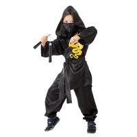 Ninja costume Yellow Dragon, kimono, trousers, mask, belt, nunchucks, r.28, height 104 cm