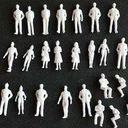1:50 Scale Model Miniature White Figures Architecture Model Human Scale Peoples Building Sand Table Model