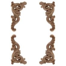 Ornamental-Decoration Furniture-Corner Wood-Decal Onlay Unpainted Doors-Walls Floral