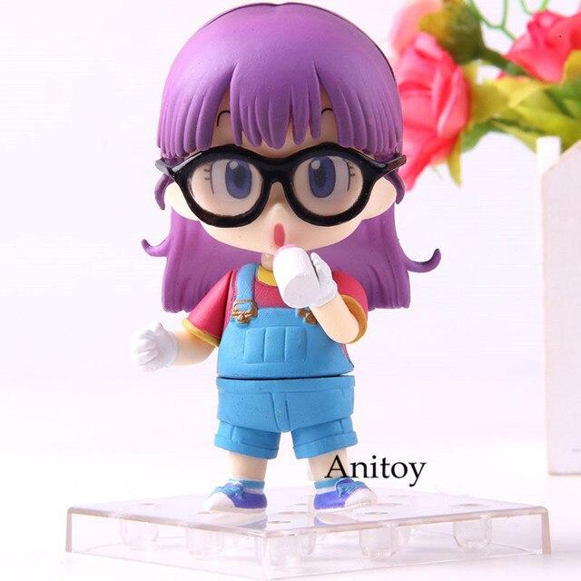 Estatueta dos desenhos animados dr. queda arale norimaki dr. queda arale q versão 900 figura de ação coleção modelo brinquedo