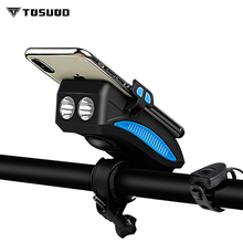 TOSUOD Bicycle light headlights accessories charging waterproof flashlight mountain bike Mobile phone holder