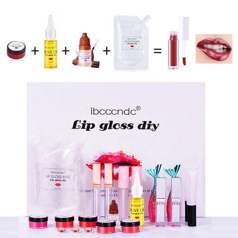 diy kit de brilho labial hidratante gloss base versacel longa duracao labio esmalte tubo diy