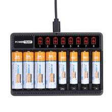 AA 2800mAh akumulatory + AAA 1100mAh akumulator z 8 gniazdami ładowarka do AA AAA NiMH zabawki elektryczne