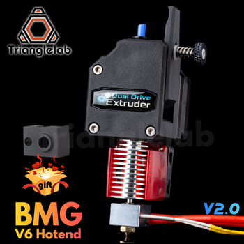 trianglelab MK8 Bowden Extruder BMG extruder + V6 HOTEND Dual Drive Extruder for 3d printer High performance for  I3 3D printer trianglelab 3d printer titan extruder for 3d printer reprap mk8 j head bowden free shipping for cr10 i3 ender 3