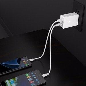 Image 5 - Prise ue originale Aukey Charge rapide PA Y2 ampères type c avec Charge rapide 3.0 double Charge USB Fsat
