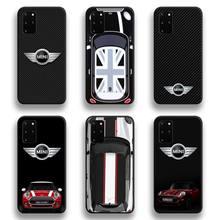 Luxury Car Mini Cooper Logo Phone Case For Samsung Galaxy S21 Plus Ultra S20 FE M11 S8 S9 plus S10 5G lite 2020