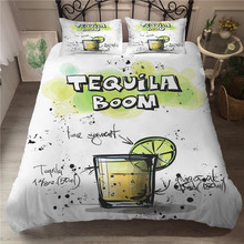 MEI Dream  Tequila Printed 3D Bedding Set Cotton Coverlets Summer King Size