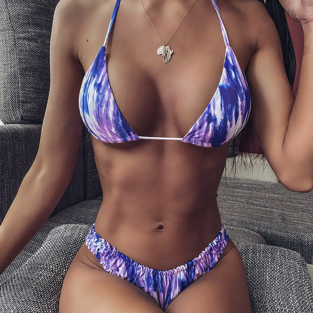 ZTVitality Halter Print Push Up Bikini 2020 New Arrival Padded Bra Lace Sexy Swimsuit Female Low Waist Swimwear Women Biquini