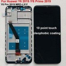 """6.09 """"AAA 오리지널 화웨이 Y6 프라임 용 2019 Y6 Pro 2019 Y6 2019 MRD LX1f LCD 디스플레이 터치 스크린 디지타이저 어셈블리 Replac + Frame"""