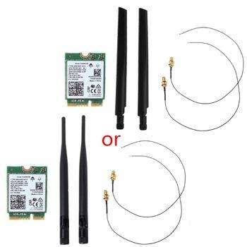 Двухдиапазонный беспроводной для In-tel 9560 AC 9560NGW 1,73 Гбит/с Wifi 802.11ac Bluetooth 5,0 Wlan карта с провод для подключения антенны для Windows 10
