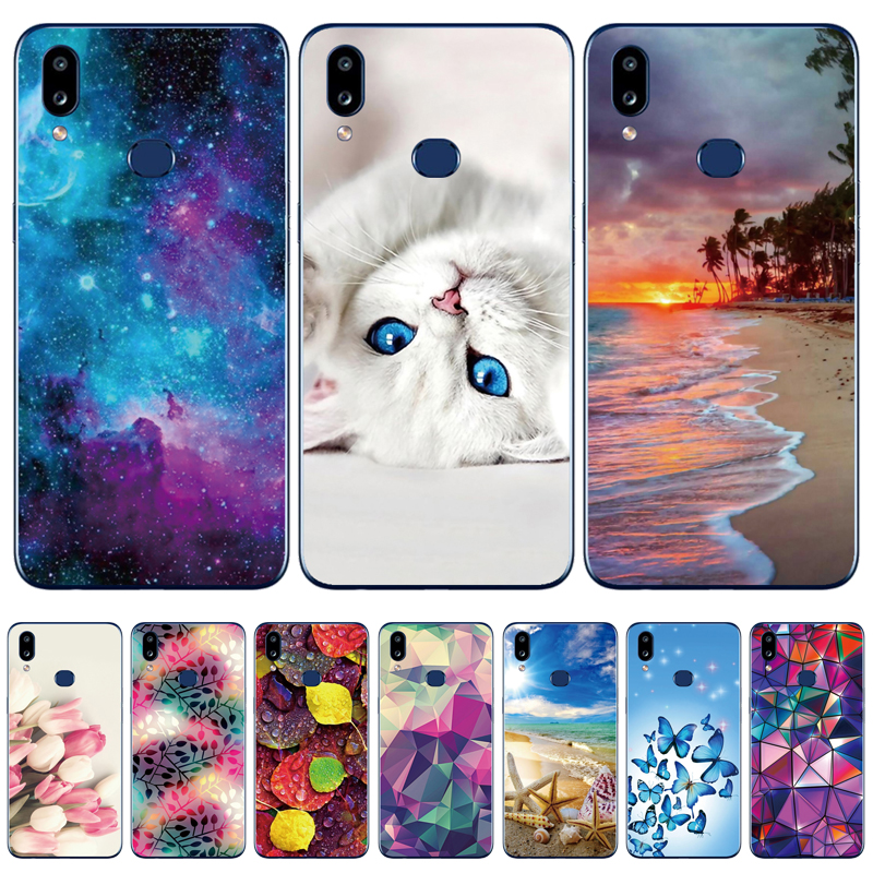 Case For Samsung A10S Case Soft Silicon Back Cover Phone Case For Samsung Galaxy A10S GalaxyA10S A 10S <font><b>A107F</b></font> Flower cat image