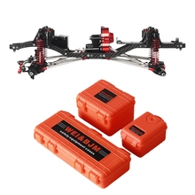 Cnc Aluminum and Carbon Frame Body for Rc Car 1/10 Scx10 Ii 90046 90047 Chassis 313Mm Wheelbase Vehicle Tracked Parts
